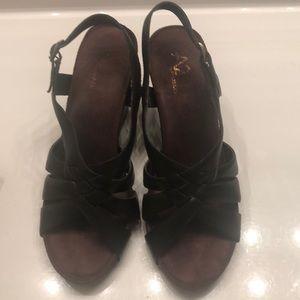 A2 Aerosoles Brown wedge sandals Size 8